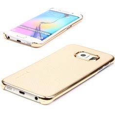 Samsung Galaxy S6 Edge Original UrCover® Taurusera Backcase Schutz Hülle Case Cover Schale Flip Tasche Etui Schutzhülle [DEUTSCHER FACHHANDEL] Variante 6 Champagner Gold 14,90€