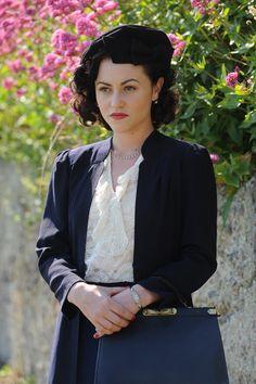 "Sheila Webb - Jaime Winstone in Agatha Christie's Poirot Season 12 ""The Clocks"", set between 1935 and 1939."