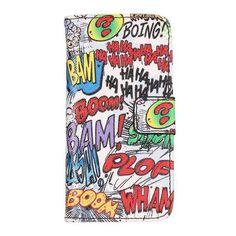 iPhone 5C strip art kunstlederen flip cover telefoon hoesje