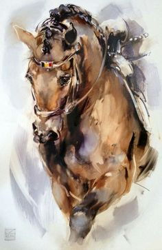 Watercolor Horse, Watercolor Animals, Watercolor Paintings, Pretty Horses, Beautiful Horses, Horse Drawings, Equine Art, Horse Art, Animal Paintings