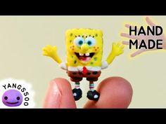 폴리머클레이로 스폰지밥 만들기 [양쑤] Spongebob Polymer Clay Tutorial - YouTube