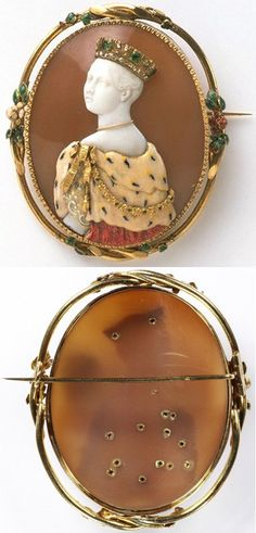 Brooch with cameo of Queen Victoria, by Félix Dafrique; cameo by Paul Lebas (active 1829-70)