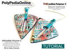 Polymer clay INKredible Alcohol Inks technique video tutorial. Learn all you ever you wanted to know about surface effects with inks! All tutorials are available in my ETSY shop :) Have fun!