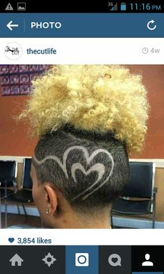 shaved sides and back with design