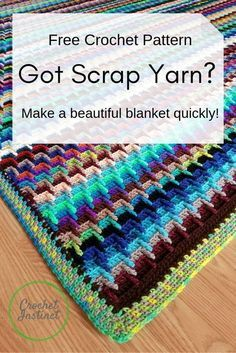 Excepcional Bust That Yarn Stash Into a Blanket! Got Scrap Yarn? Bust that stash of lefto. Crochet Square Pattern, Afghan Crochet Patterns, Knitting Patterns, Free Crochet Blanket Patterns, Crochet Blocks, Square Patterns, Amigurumi Patterns, Free Knitting, Scrap Yarn Crochet