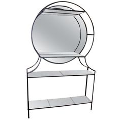 Geometric Glass And Mirror Etagere | From a unique collection of antique and modern shelves at http://www.1stdibs.com/furniture/storage-case-pieces/shelves/