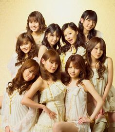 Morning Musume 10 years celebration album, the prettiest picture of them all! :3