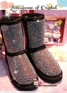 PROMOTION WINTER Bling and Sparkly Strass Tall Black by oursonline, $159.00
