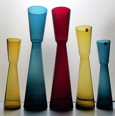 Blomglas Vases designed by Fabian Lundqvist for Alsterfors 1962 | Collectors Weekly