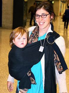 Mayim Bialik and her son