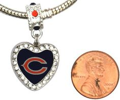Chicago Bears Crystal Heart Charm with Connector Will Fit Pandora, Troll, Biagi and More. Can Also Be Worn As a Pendant. by Final Touch Gifts. $19.99. Chicago Bears heart charm. Fits Pandora, Chamilia, Biagi, Troll.  See product description for Brighton bracelets. Charm is approximately the size of a penny.. Metal is silver tone with 24 Swarovski crystals. Officially licensed by the NFL.  Fits most large hole bead bracelets such as Pandora, Bagli, Chamilia and Troll.  If you have...