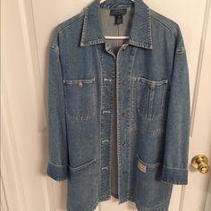 Vintage Ralph Lauren Jacket Ralph Lauren loose-fitting, denim jacket. Collared and cuff sleeves Ralph Lauren Jackets & Coats
