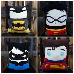 Superhero pillow, cushion, boy room decor, nursery, superhero plush
