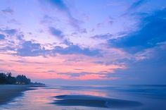 Sweet Sunrise Over The Sea at Rayong Beach - Sweet sunrise over the sea at the beach in Rayong province, Thailand.