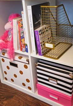 The Cuban In My Coffee: DIY Kate Spade Inspired Ikea Storage Boxes