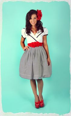 Walk The Plank Collar Dress