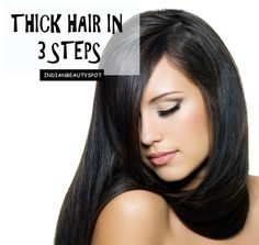 Thick Hair in 3 natural and simple steps