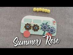 (13) Tutorial - Orecchini Summer Rose - YouTube Beaded Earrings, Stud Earrings, Earring Tutorial, Beading Patterns, Rose, Swarovski, Pendants, Beads, Youtube