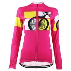 Pink Bike Jersey Top- Without Fleece Women's Cycling Jersey, Cycling Jerseys, Cycling Gear, Outdoor Companies, Female Cyclist, Keep Warm, Female Bodies, Quick Dry, Sport Outfits