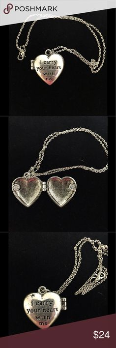 Brighton Style Heart Locket Necklace This is a very pretty locket and is Silvertone. I purchased it and made a chain for it which measures about 18 inches long. It reminds me of a couple of the Brighton lockets I have. There is no tarnish it is NWOT never worn. Please no lowball offers as I spend a lot of time and money to find these treasures for you. Thank you for looking. Jewelry Necklaces