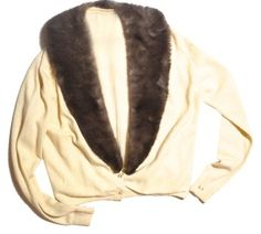 Vintage 1950's Cashmere Detachable Mink Collar Sweater. This Rocabilly cashmere Vintage Mink Fur sweater is one of Tradesy's Top Ten deals of the week!