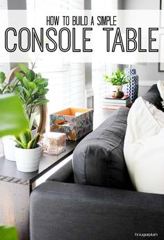 {diy} Simple Console Table