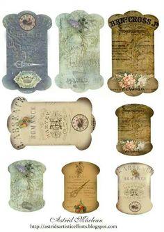 Brocante labels