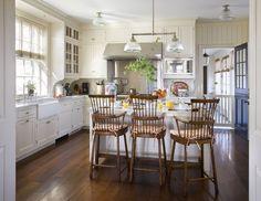 Schafer Architect – kitchens – L shaped kitchen, kitchen island, beadboard… - Country Kitchen, New Kitchen, Kitchen Modern, Kitchen Floor, Kitchen Layout, Rustic Kitchen, Kitchen Interior, Kitchen Ideas, Haacke Haus