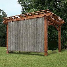 Gazebo Privacy Panel Adjustable Hanging Panel for Pergola/Porch/Patio Grey Image 1 of 2 Wood Pergola, Pergola Canopy, Pergola Swing, Deck With Pergola, Cheap Pergola, Covered Pergola, Outdoor Pergola, Backyard Pergola, Pergola Shade
