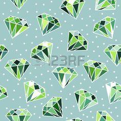 Green seamless pattern with diamonds.  photo
