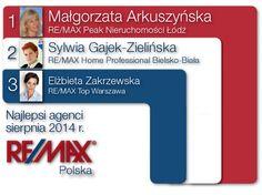Ranking RE/MAX Polska sierpień 2014