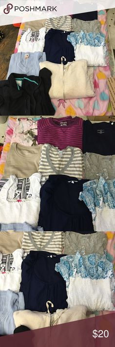 XL 12 item bundle Mix of long sleeve and short sleeve, dresses and jackets all GENTLY USED Tops