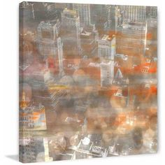 Parvez Taj Rooftops Print on Canvas, Size: 18 inch x 18 inch, Multicolor