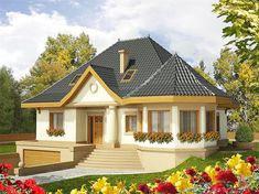 Decorating Your American Bungalow Style House My House Plans, Small House Plans, Style At Home, Bungalow Style House, Home History, House With Porch, Village Houses, Home Pictures, Simple House