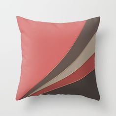 Abstract geometric pattern 3 Throw Pillow by PalitraArt - Cover x with pillow insert - Indoor Pillow