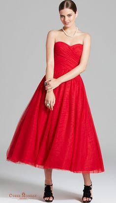 Sweetheart Prom Dresses A Line Tulle With Ruffles Ankle Length Item Code: #CMDPHSQ8F8J