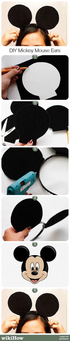 DIY Mickey Mouse Ears  Ya hice una de estas para el cumpleaños de mi baby :)