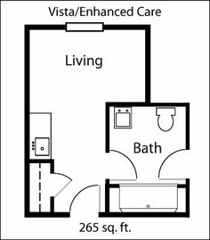 This is the floor plan for our units in the Vista and Enhanced Care