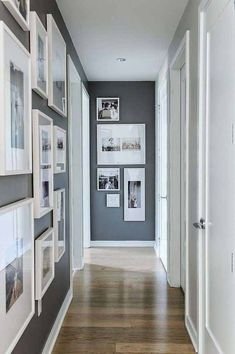 Narrow hallway decorating ideas inspirational wall beside white dining table set small entrance hallway wall Hallway Paint Colors, Hallway Walls, Paint Colours, Hallway Wall Decor, Upstairs Hallway, Neutral Colors, Style At Home, Entrance Hall Tables, Small Entrance