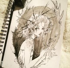 Amazing Drawings, Cool Drawings, Amazing Art, Illustrations, Illustration Art, Character Art, Character Design, Witch Art, You Draw