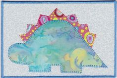 Dinosaur Fabric Postcard $7.00