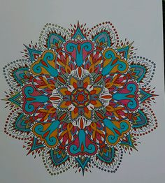 ColorIt Mandalas to Color Volume 1 Colorist: Diane Cole #adultcoloring #coloringforadults #mandalas #mandalastocolor