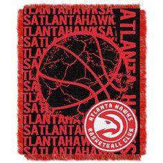 Atlanta Hawks NBA Triple Woven Jacquard Throw (Double Play Series) (48x60)