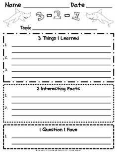 Great idea for lesson closures for students to reflect on their learning and it can be used for a reading strategy.