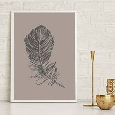 Set of 3 Feather Print Feathers Brown Feather Wall Art Print Home Decor Print Feather Poster Feather Prints Feather Illustration Tropical Feather Wall Art, Feather Print, Nursery Prints, Wall Art Prints, Feather Illustration, Pink Body, Botanical Wall Art, Line Art, Floral Prints