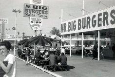 Vintage photo Mr. Big Burgers, Burbank, 1960's.