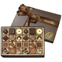Decadent Desserts-Gourmet Chocolate Truffles (24-Piece Box) ($13) ❤ liked on Polyvore featuring food and drink