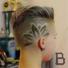 Unique Chic Undercut Hairstyles Designs – Cute Pins For You :) Undercut Designs, Haircut Designs, Pompadour Hairstyle, Undercut Hairstyles, Unique Hairstyles, Haare Tattoo Designs, Short Hair Cuts, Short Hair Styles, Shaved Undercut
