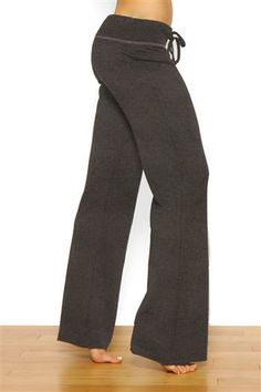 """33"""" Relaxed Lounge Yoga Pants in Heather Charcoal Grey by Green Apple"""