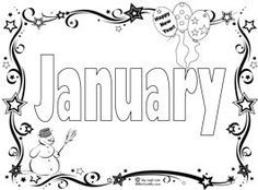 January Coloring Pages Start The New Year With A January Coloring Page Song Sing Laugh Coloring Pages Month Colors Months In A Year